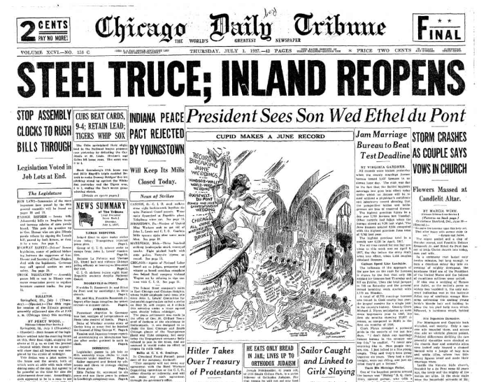 Chicago Daily Tribune July 1, 1937