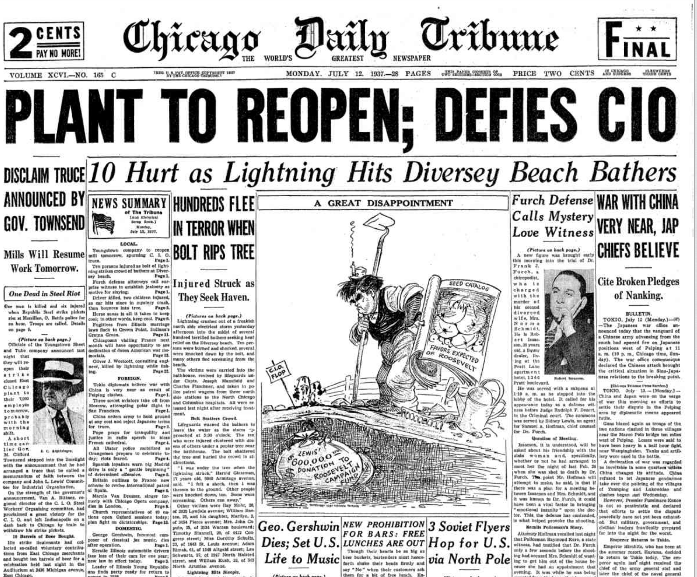 Chicago Daily Tribune July 12, 1937