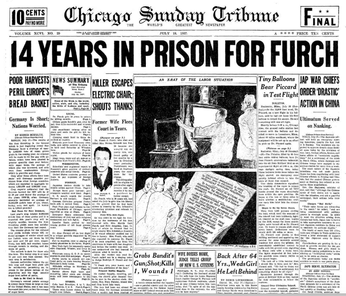 Chicago Sunday Tribune July 18, 1937