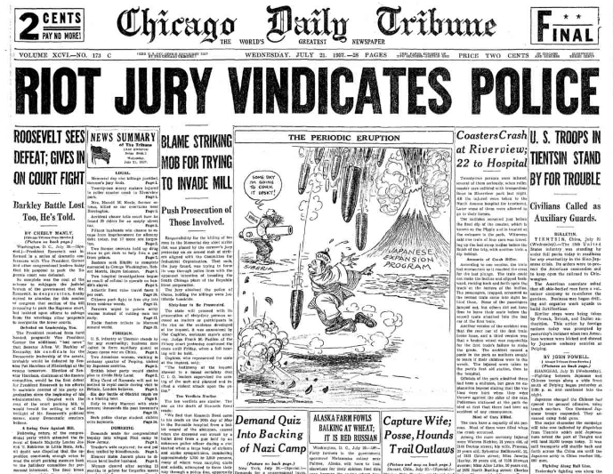 Chicago Daily Tribune July 21, 1937
