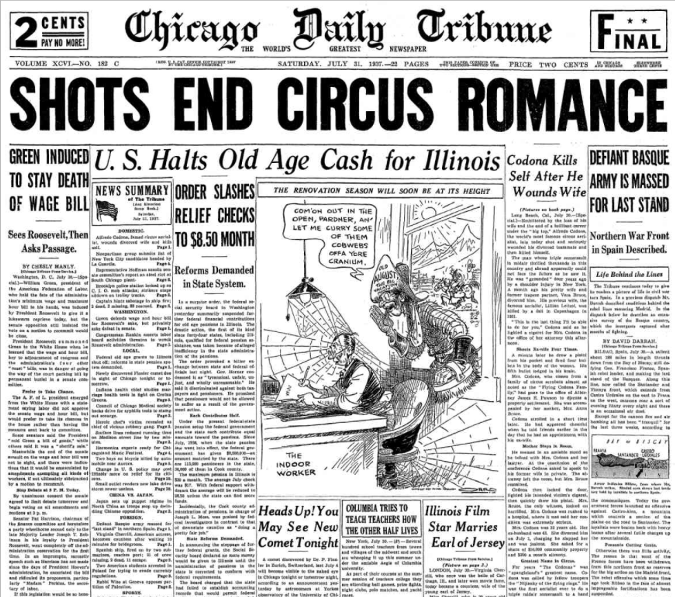 Chicago Daily Tribune July 31, 1937