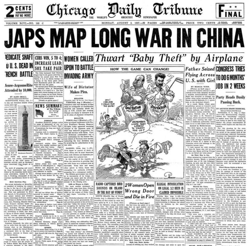 Chicago Daily Tribune Aug. 2, 1937