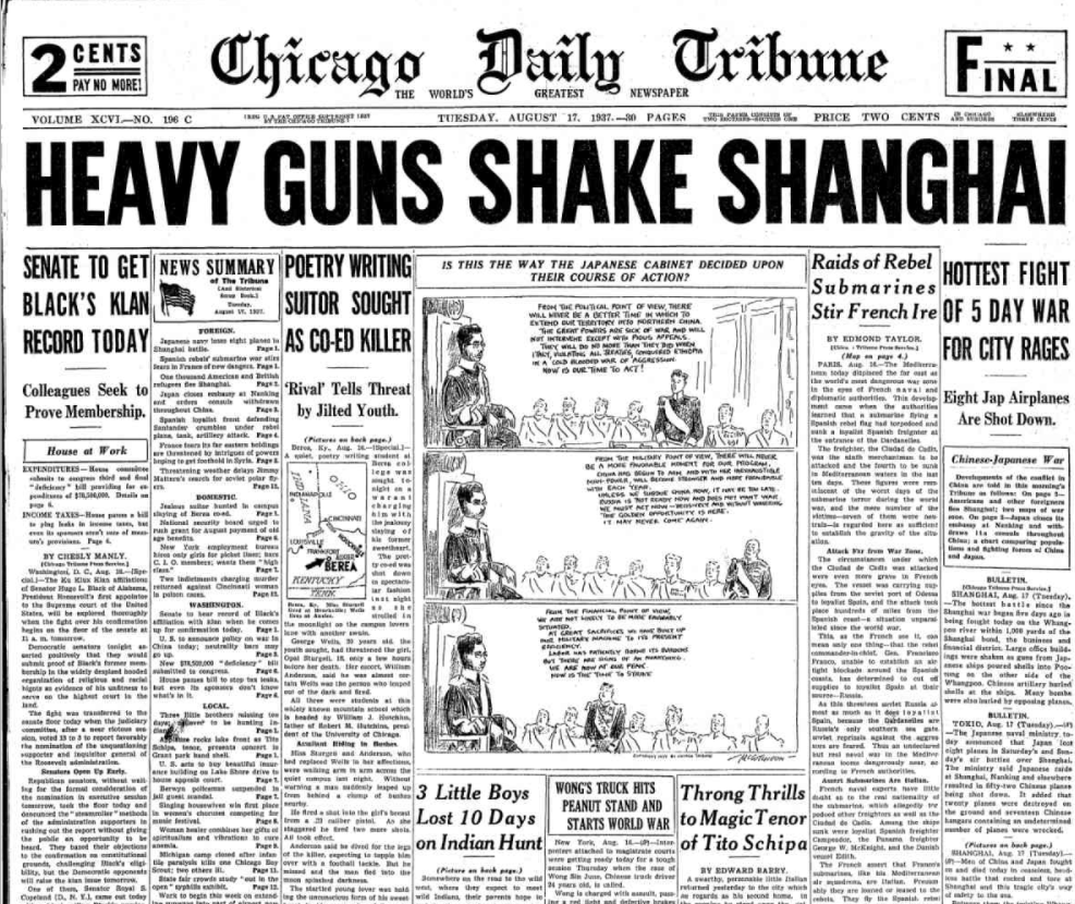 Chicago Daily Tribune August 17, 1937