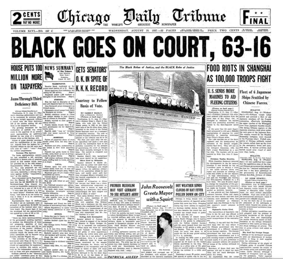Chicago Daily Tribune August 18, 1937