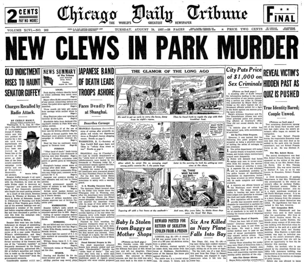 Chicago Daily Tribune August 24, 1937