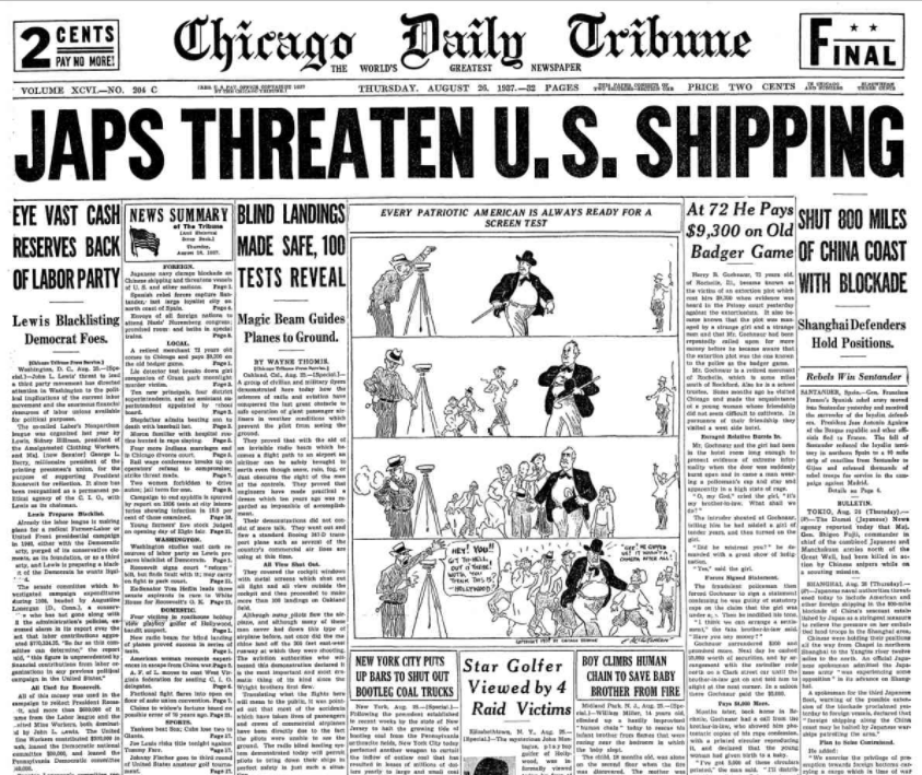 Chicago Daily Tribune August 26, 1937