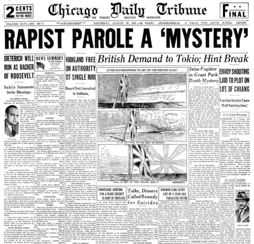 Chicago Daily Tribune August 28, 1937