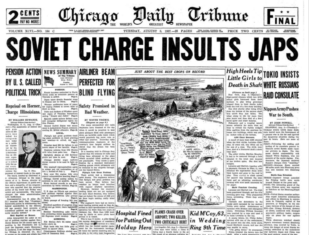 Chicago Daily Tribune Aug. 3, 1937