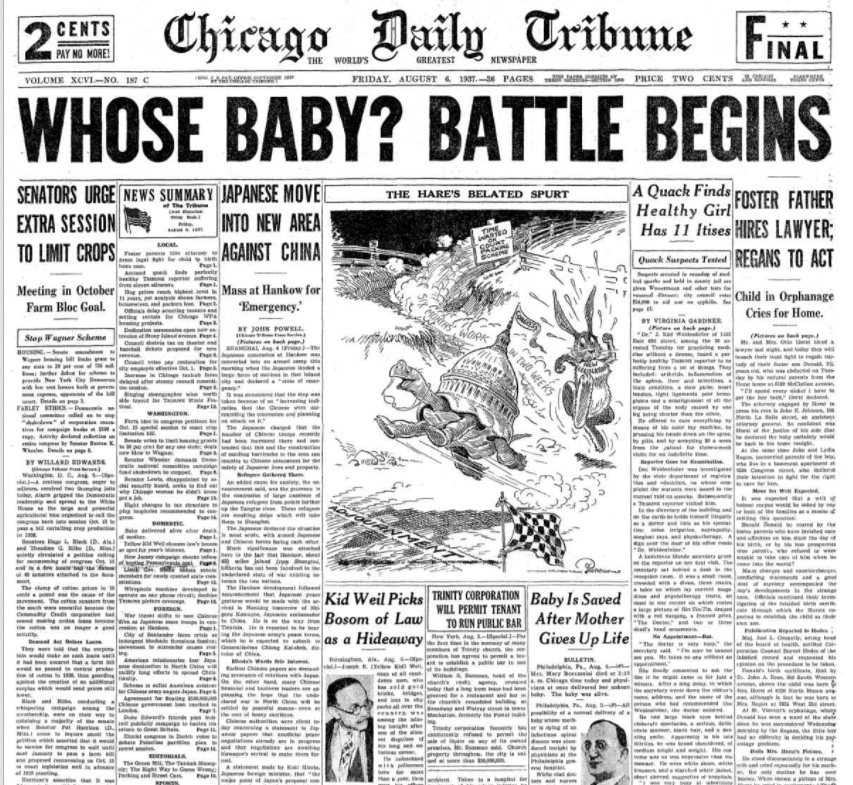 Chicago Daily Tribune August 6, 1937