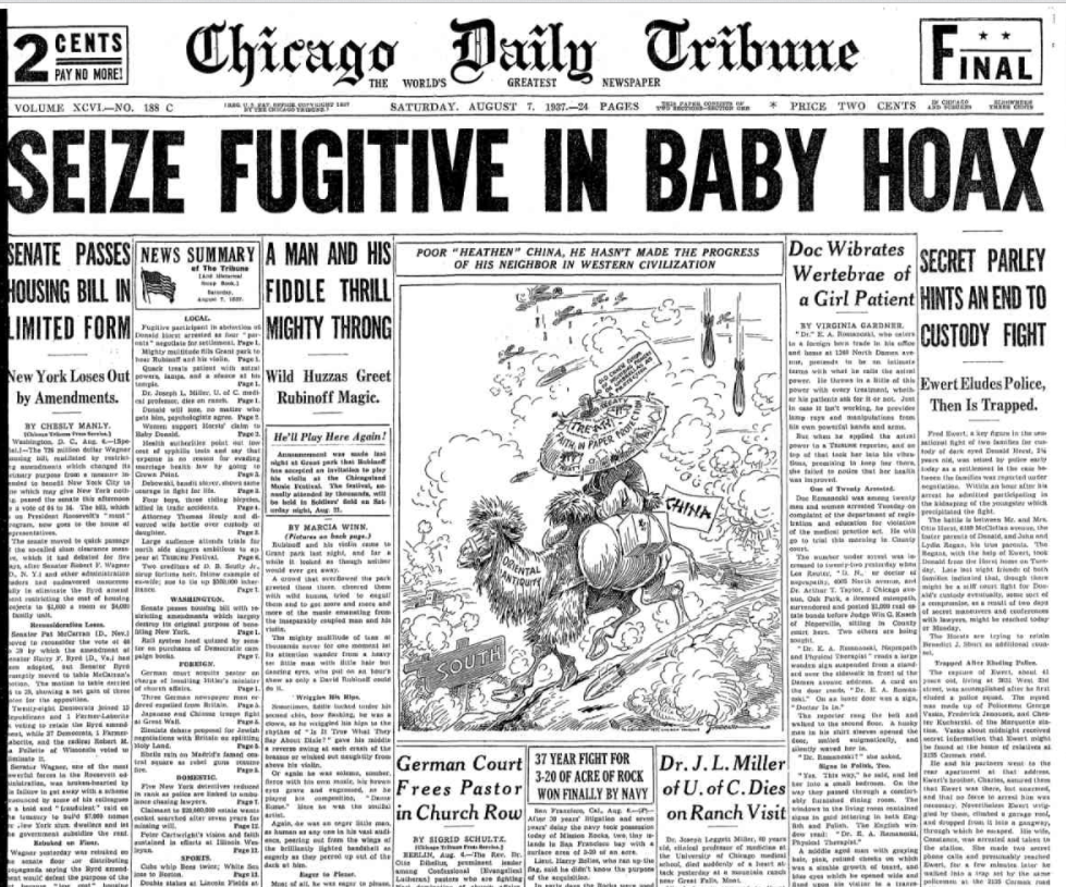 Chicago Daily Tribune August 7, 1937