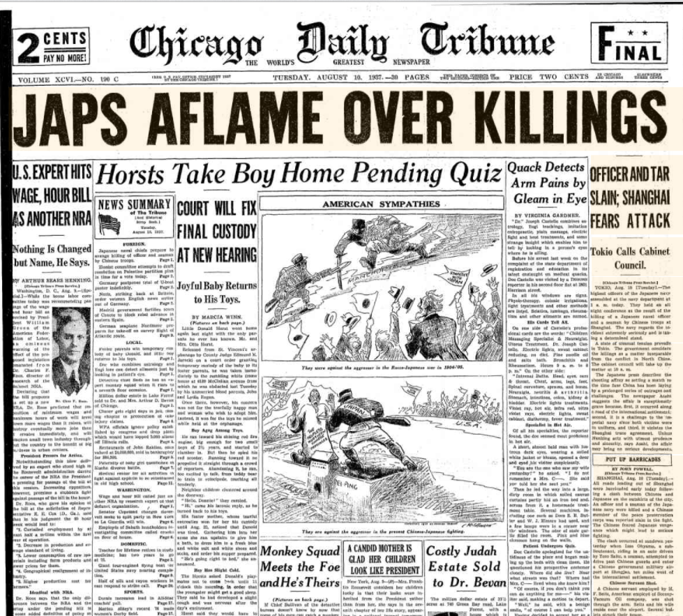 Chicago Daily Tribune Aug 10, 1937
