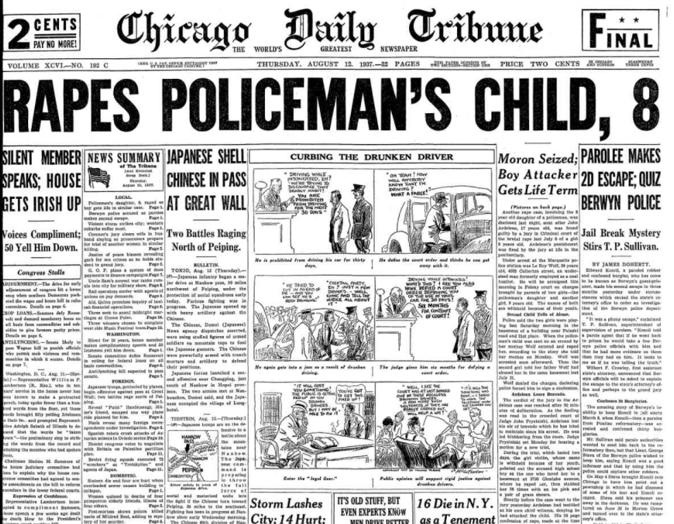 Chicago Daily Tribune August 12, 1937