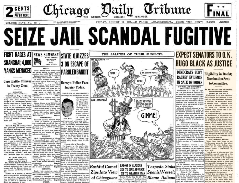 Chicago Daily Tribune August 13, 1937