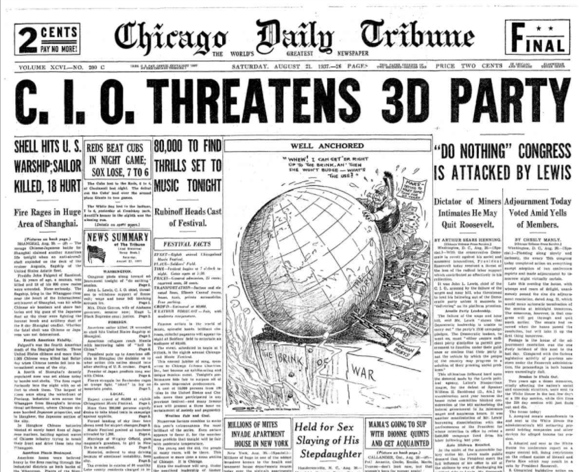 Chicago Daily Tribune August 21, 1937