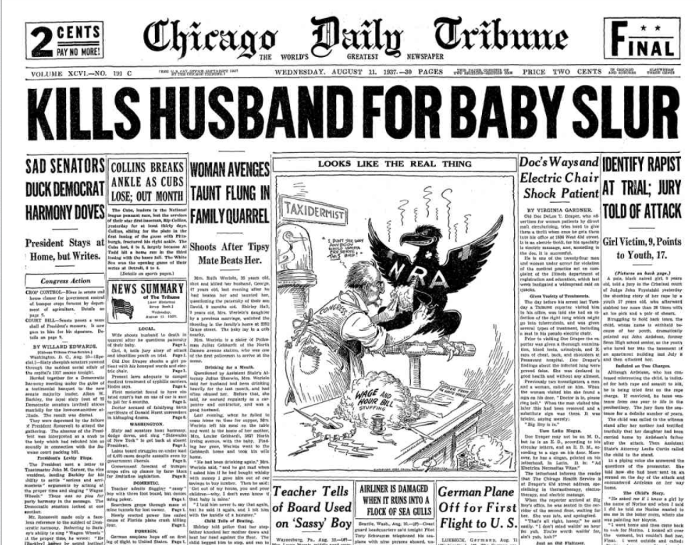 Chicago Daily Tribune August 11, 1937