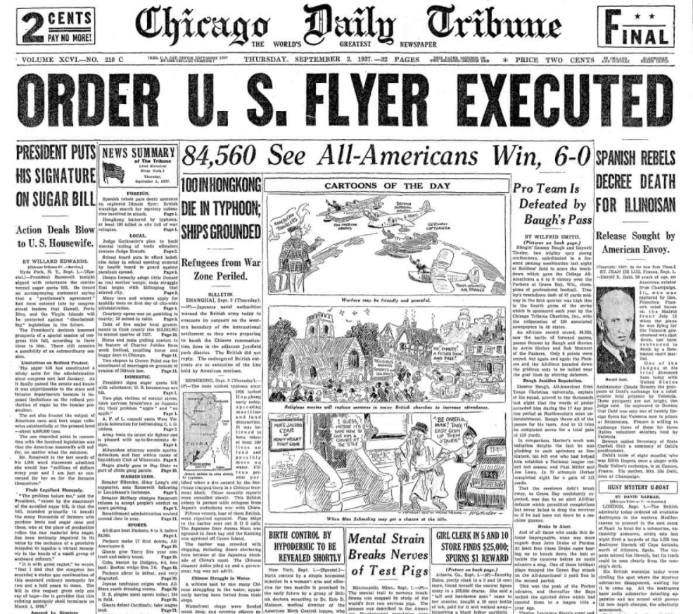 Chicago Daily Tribune September 2, 1937