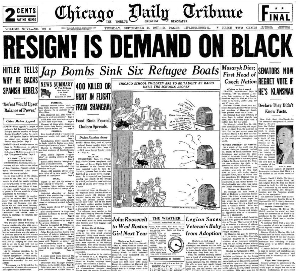 Chicago Daily Tribune September 14, 1937