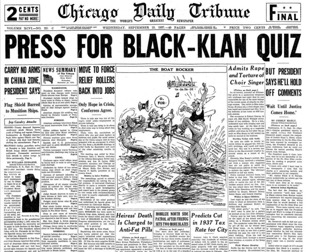 Chicago Daily Tribune Sept 15, 1937