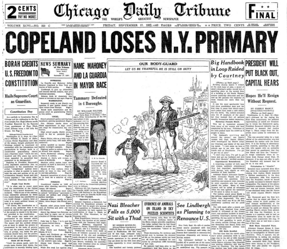 Chicago Daily Tribune Sept 17, 1937