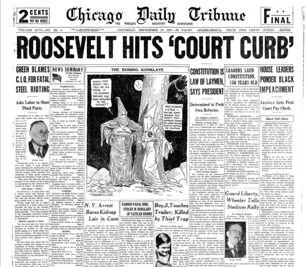 Chicago Daily Tribune Sept 18, 1937