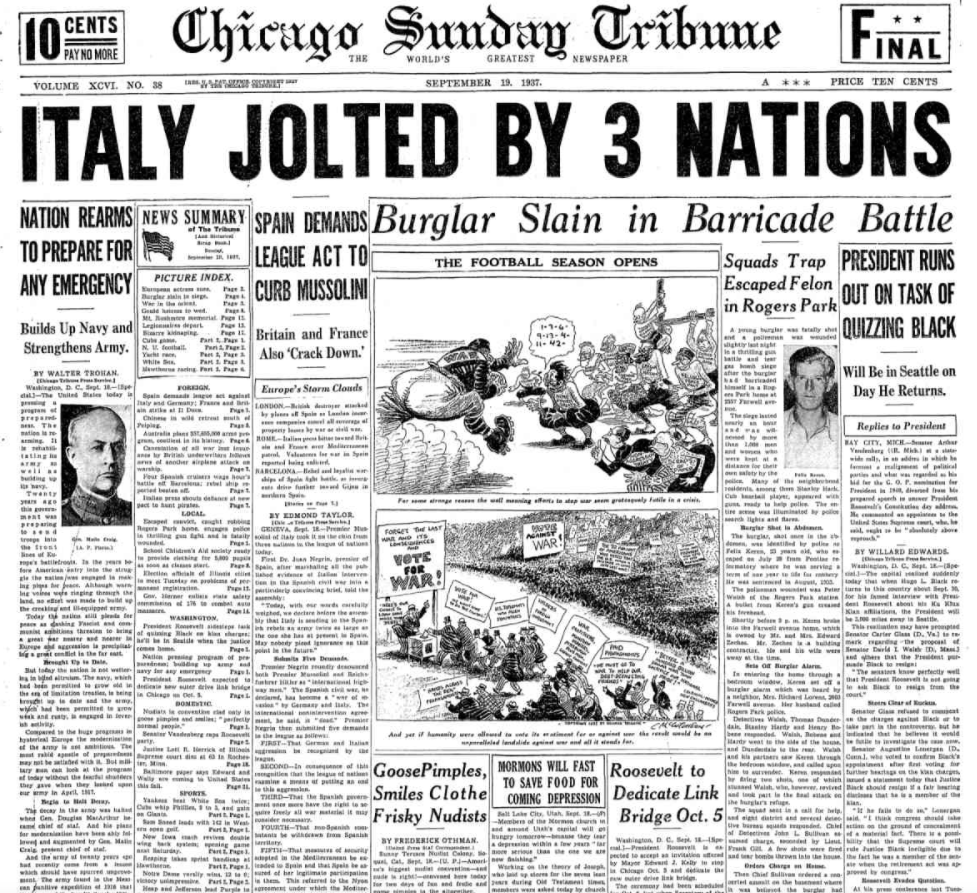 Chicago Daily Tribune Sept 19, 1937