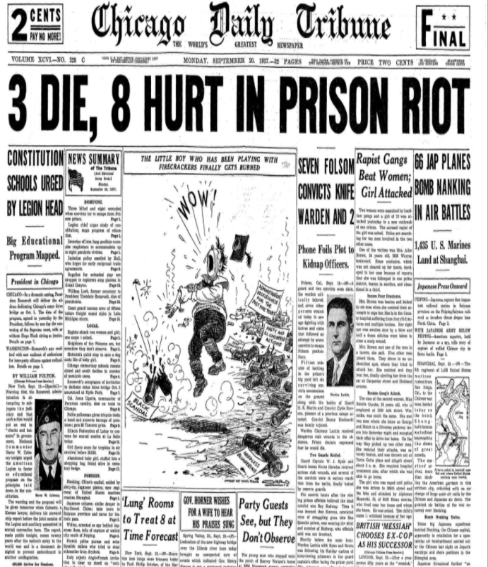 Chicago Daily Tribune Sept 20, 1937