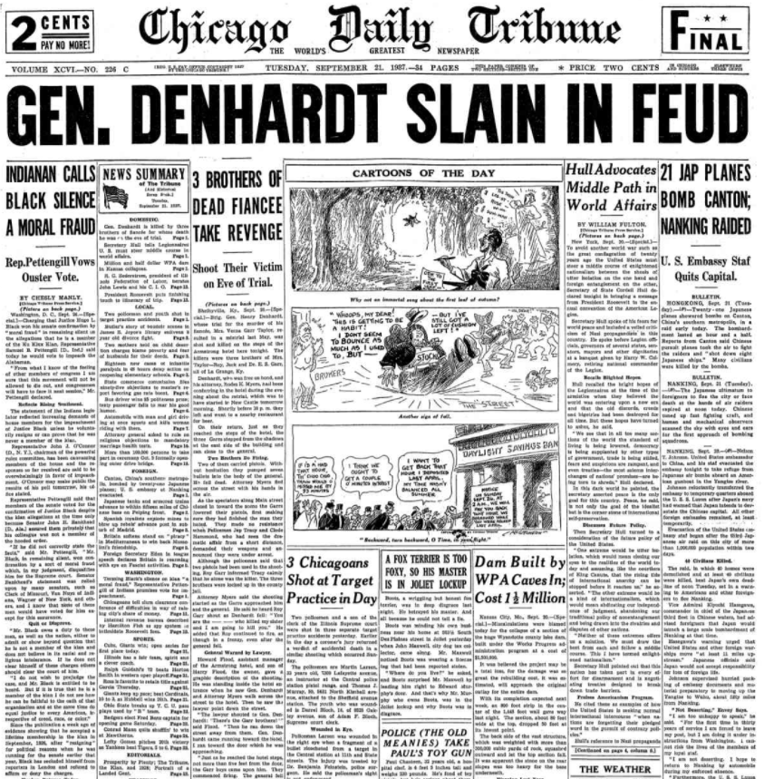 Chicago Daily Tribune Sept 21, 1937