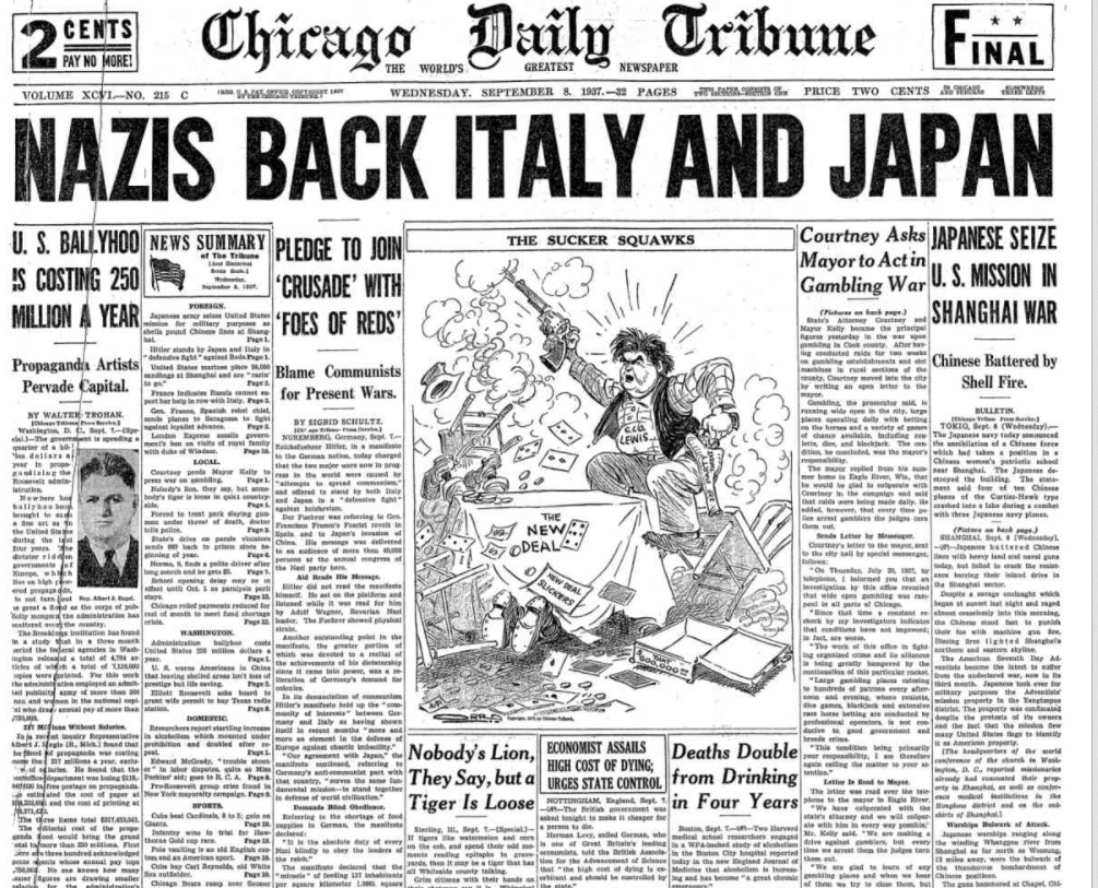 Chicago Daily Tribune Sept 8, 1937