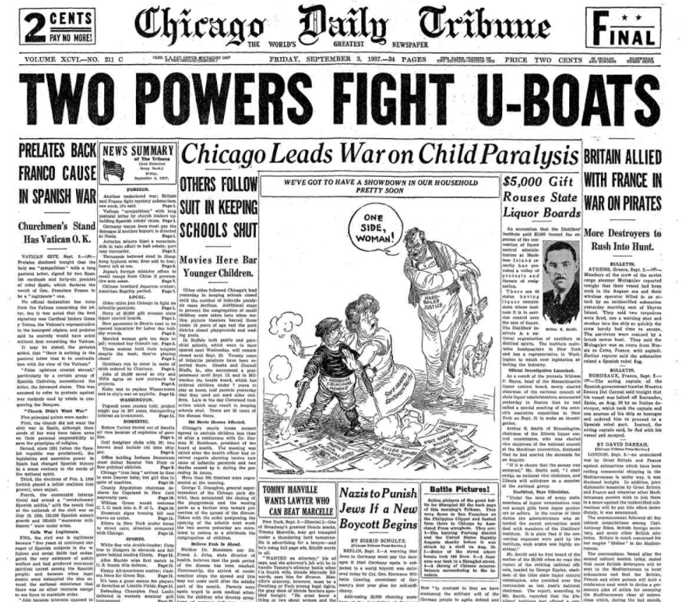 Chicago Daily Tribune Sept, 3, 1937