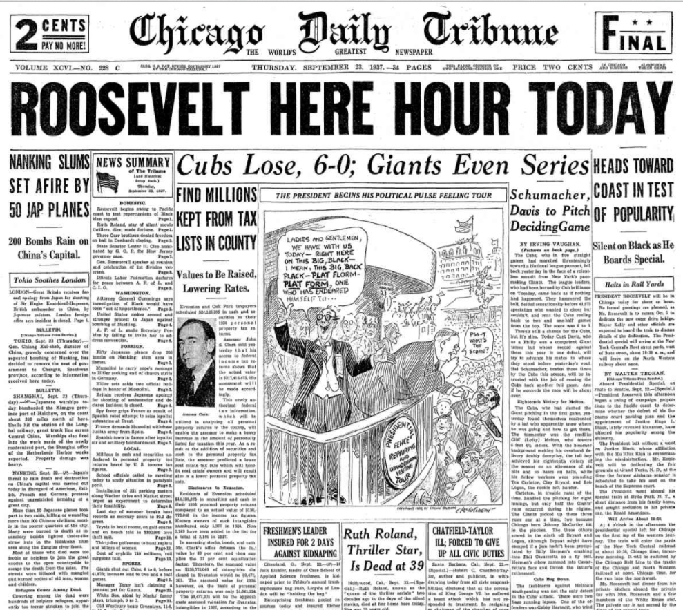Chicago Daily Tribune September 23, 1937