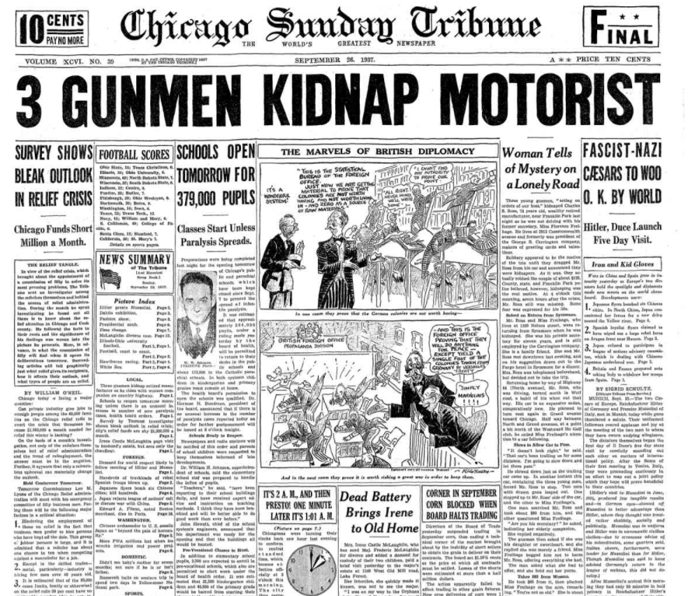 Chicago Sunday Tribune Sept 26, 1937
