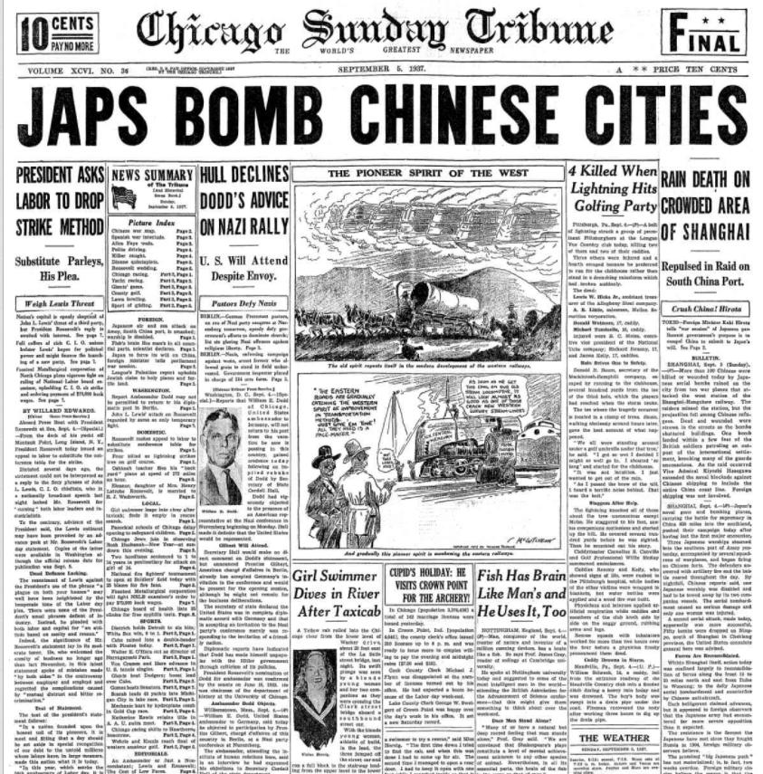 Chicago Sunday Tribune Sept 5, 1937