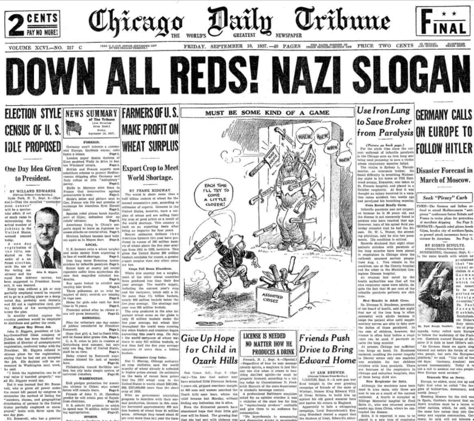 Chicago Daily Tribune Sept 10, 1937