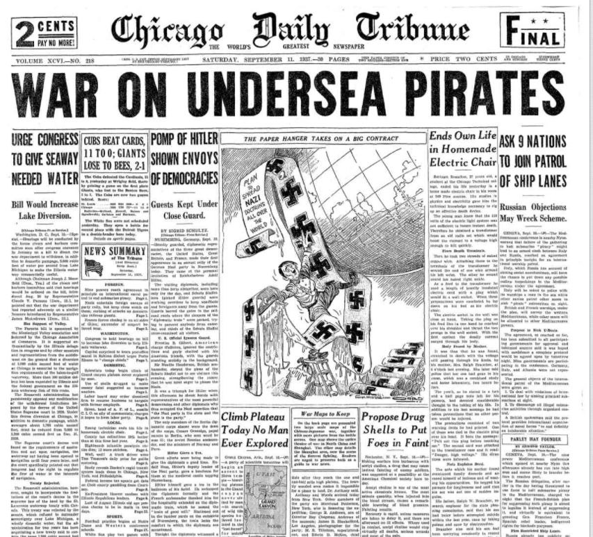 Chicago Daily Tribune September 11, 1937