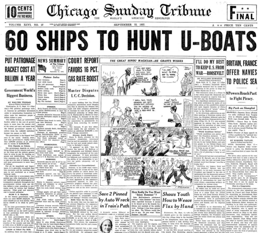 Chicago Daily Tribune Sept 12, 1937