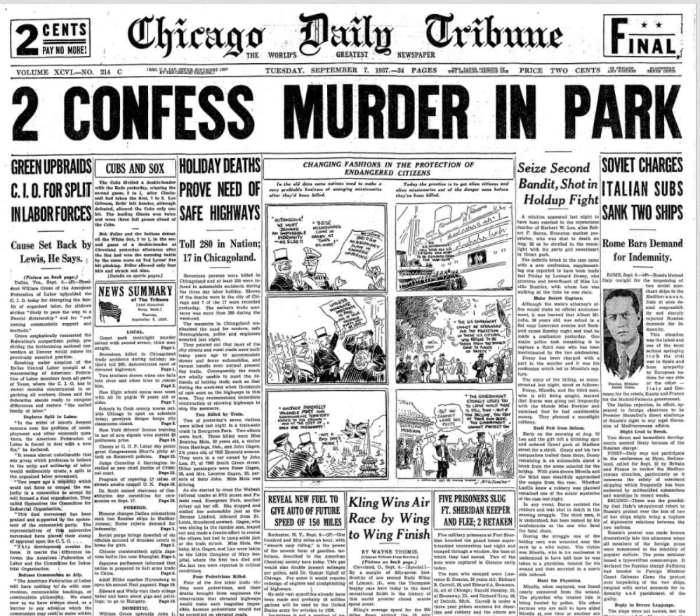Chicago Daily Tribune September 7, 1937