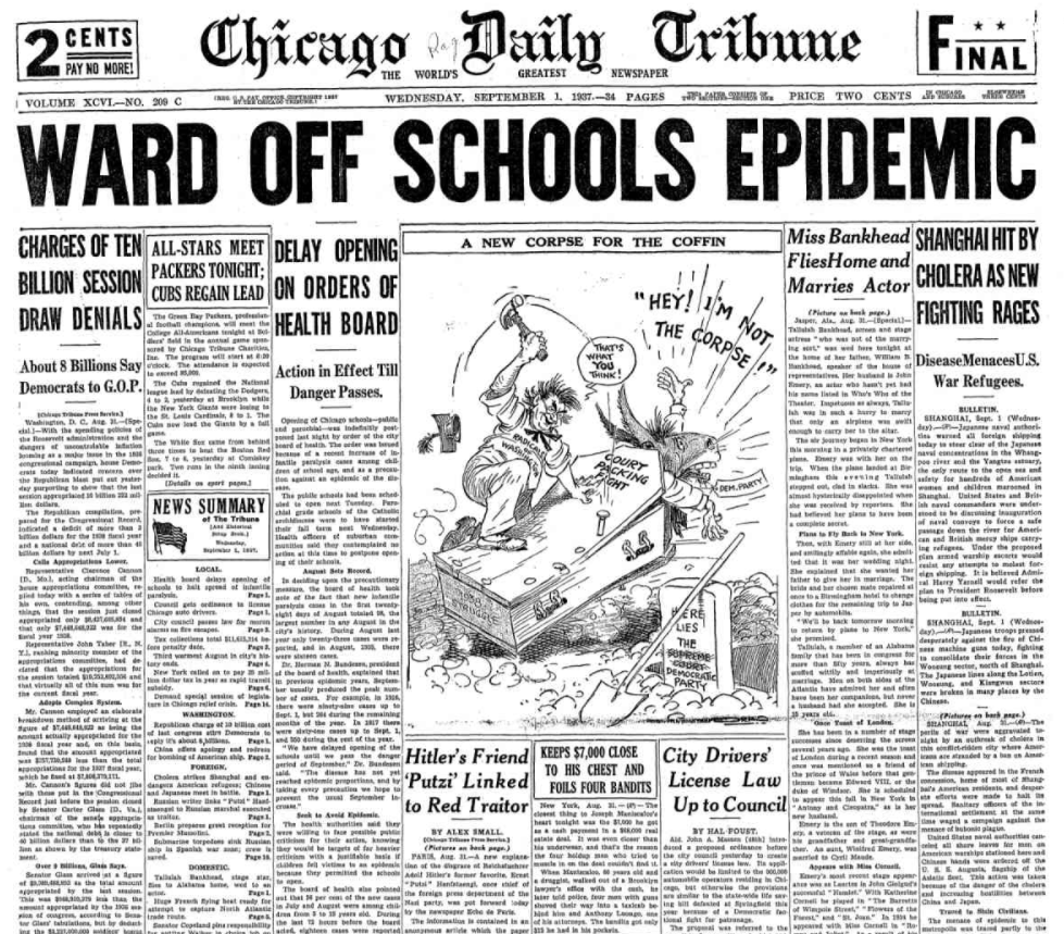 Chicago Daily Tribune Sept. 1, 1937