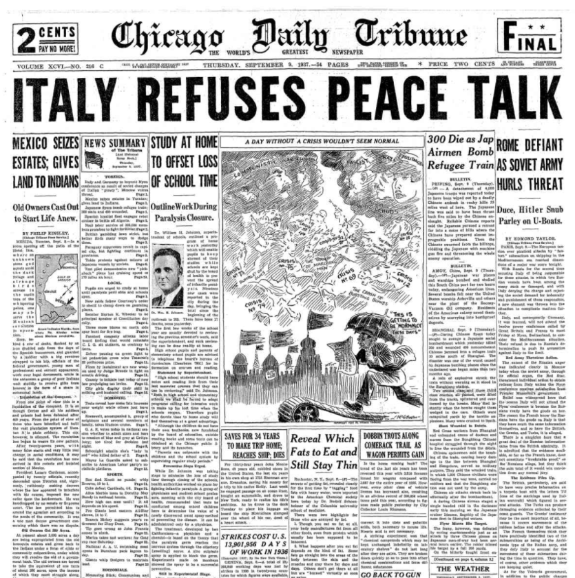 Chicago Daily Tribune Sept 9, 1937